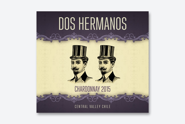 ontwerp wine labels ad Bibendum - Miet Marneffe - dos hermanos