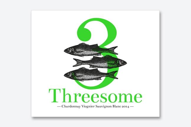ontwerp wine labels ad Bibendum - Miet Marneffe - threesome