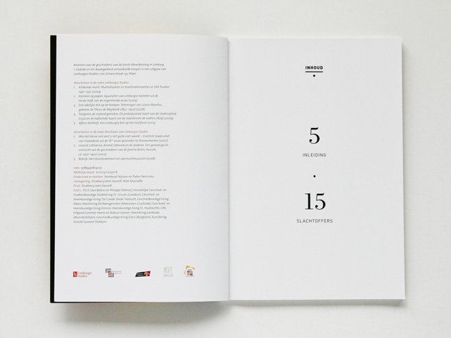 ontwerp bronnenboekje WO I - vormgeving boek - Miet Marneffe - grafische vormgeving