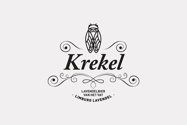 ontwerp logo en tafelkaartje Krekelbier - Miet Marneffe - grafische vormgeving