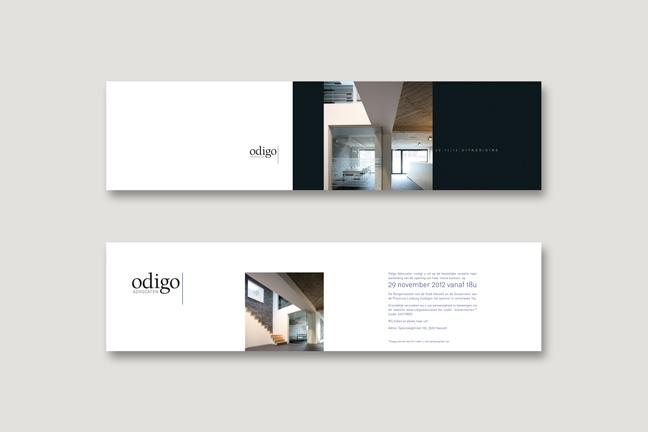 verhuiskaart, logo en huisstijl advocatenkantoor Odigo - Miet Marneffe - grafisch ontwerper