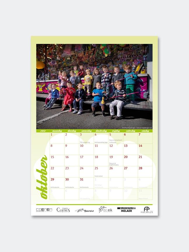 ontwerp logo, kalenders en affiches Terkoester Ouderraad (Alken) - grafiet - Miet Marneffe