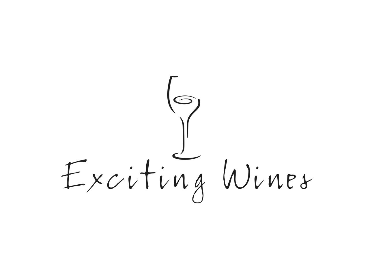ontwerp logo Exciting Wines - Miet Marneffe - grafische vormgeving