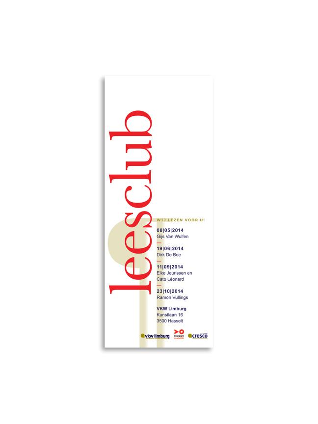 ontwerp uitnodigingen en bladwijzer leesclub - Miet Marneffe - grafiet