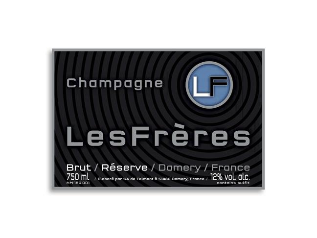 wijnetiket champagne Les Frères