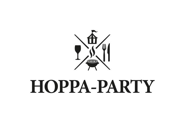 ontwerp logo food-truck HOPPA-PARTY - grafiet - grafische vormgeving