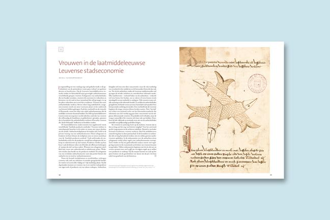 ontwerp boek 'Vensters op Leuven - een geschiedenis' door Miet Marneffe